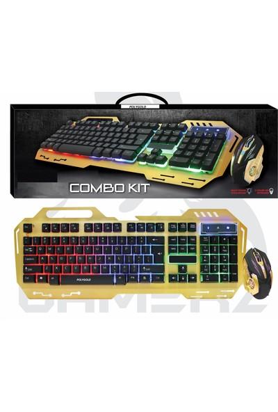 Owwo Tech Işıklı Oyuncu Klavye ve Mouse Seti