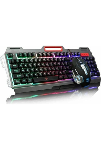 Owwo Tech PG-8016 Rgb Oyuncu Klavye ve Mouse Seti