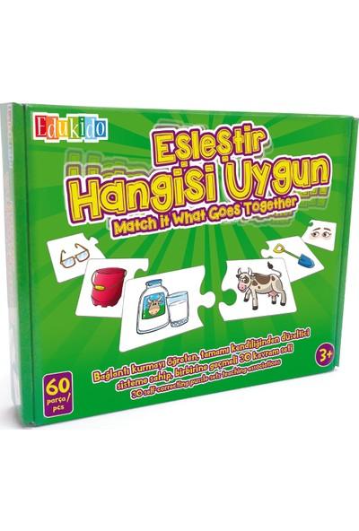 Edukido Eğitici Oyuncak Eşleştir Mukavva Puzzle Hangisi Uygun Edu-1011