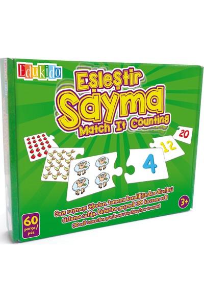 Edukido Eğitici Oyuncak Eşleştir Mukavva Puzzle Sayma EDU-1003