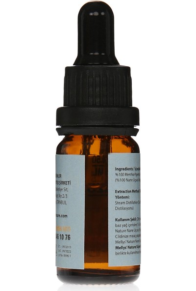 Mellys' Nature %100 Saf Nane Uçucu Yağı (Peppermint)