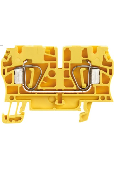 Weidmuller 4 mm Yay Baskılı Klemens Sarı
