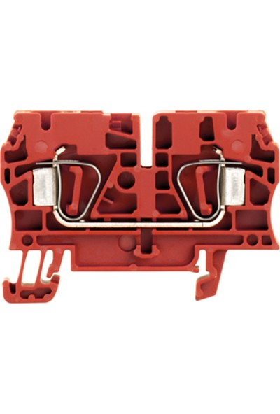 Weidmuller 6 mm Yay Baskılı Klemens Kırmızı