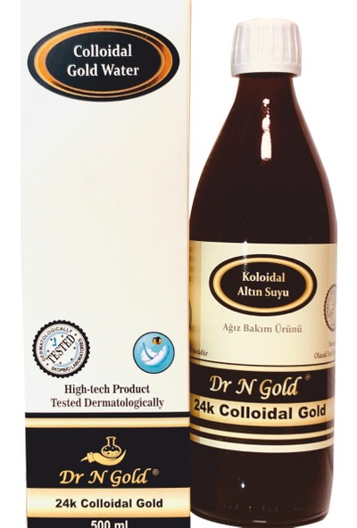 Dr N Gold Kolloidal Altın Suyu - Ağız Bakım Suyu 500 ml-20 ppm