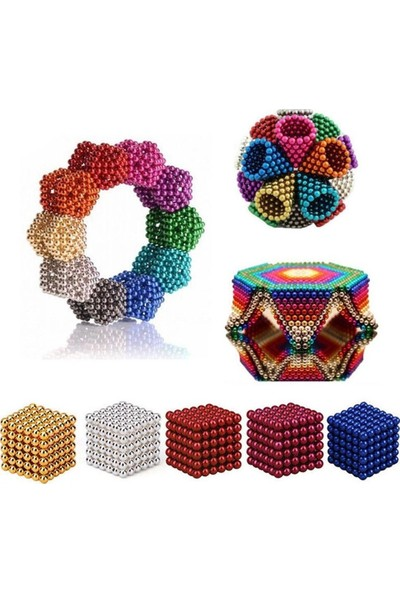 Sezy 6 Renk 216 Parça 5 mm Mix Neocube Sihirli Toplar Karışık Renkli Manyetik Neodyum