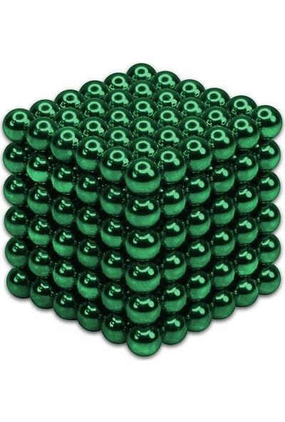 Sezy 216 Parça 5 mm Yeşil Neocube Sihirli Toplar Tek Renkli Manyetik Neodyum