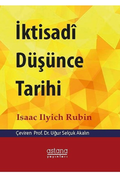 İktisadi Düşünce Tarihi - İsaac İlyich Rubin