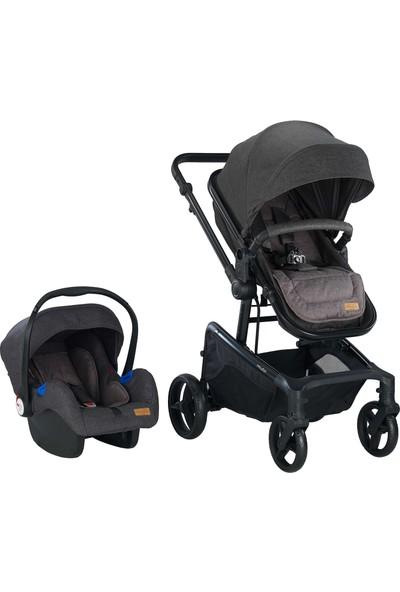 Baby2go Motti Travel Sistem Bebek Arabası Siyah