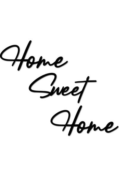 Bold Home Sweet Home Dekoratif Metal Duvar Yazısı Tablo