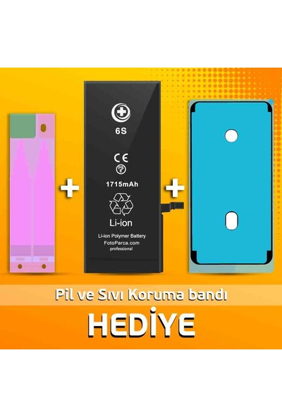 FP Pro Apple iPhone 6s Batarya (1715 mAh) + Pil ve Sıvı Bandı