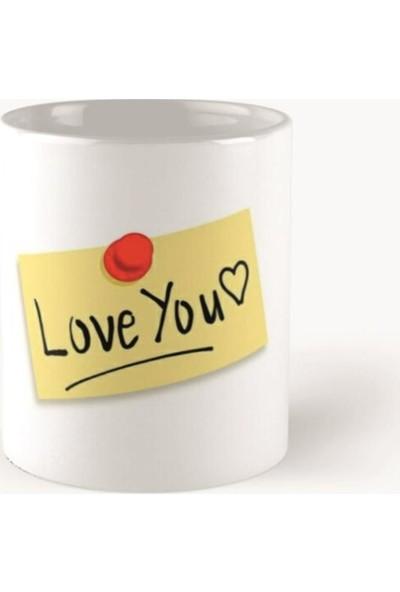 Ömr Dizayn Hediye Sevgililer Günü Hediyesi Love You Baskılı Kupa Bardak