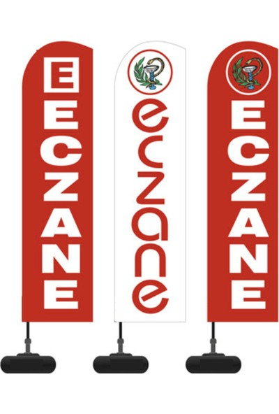 Reklam Ediyoruz Yelken Bayrak Eczane Logolu Paket