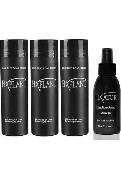 Fixplant 3 Set Açık Kahve Saç Tozu + Fixator Sabitleyici Sprey