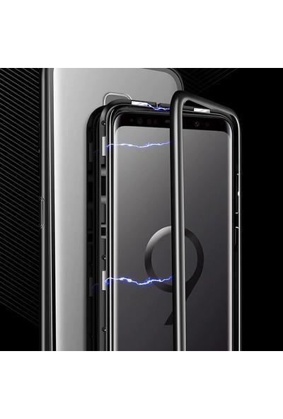 Case Street OnePlus 7 Pro Kılıf Manyetik Cam 2in1 Arka Cam Kırmızı