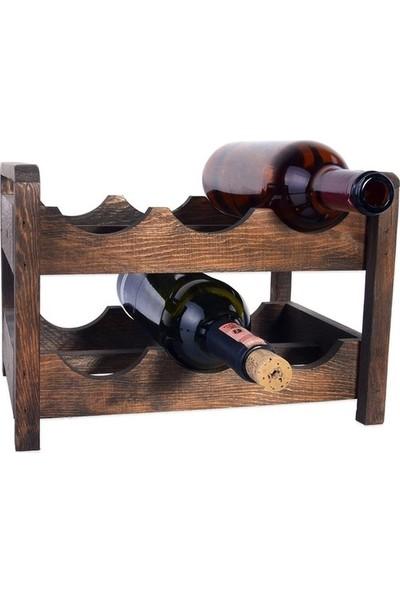 Ahtapot İki Katlı Ahşap Şaraplık