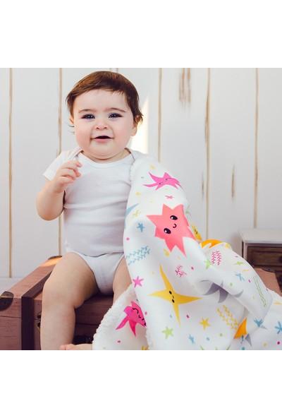 Hamur Fluffy Bebek Battaniyesi Colorful