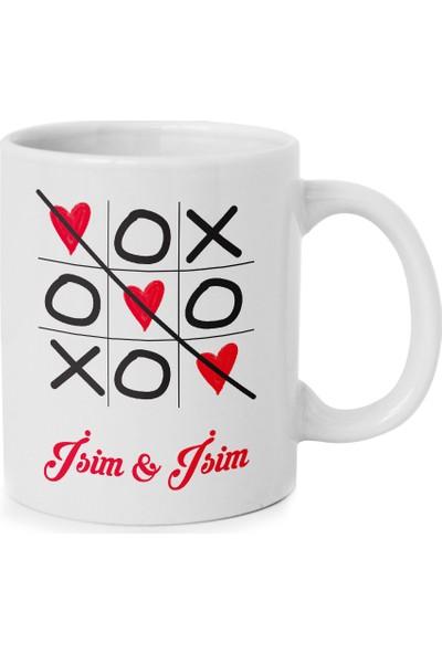 Anı Diyarı Sevgililere Özel Xox Tasarımlı Kupa Bardak