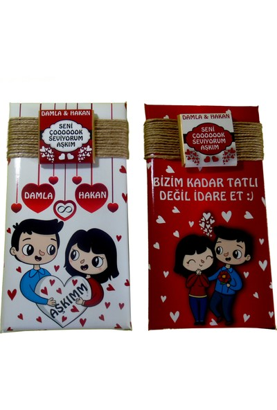Tonti Ponti Mini Kutulu Baton Sevgili Çikolatası