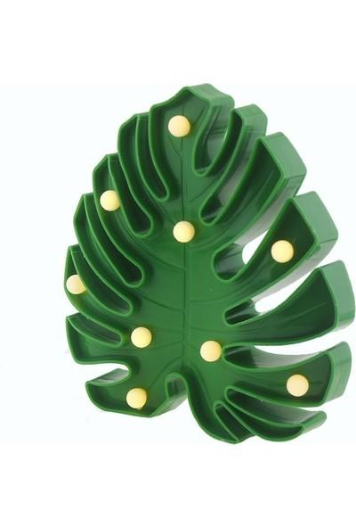 Mutlu Adım 20 cm LED Işıklı Plastik Yaprak Gece Lambası