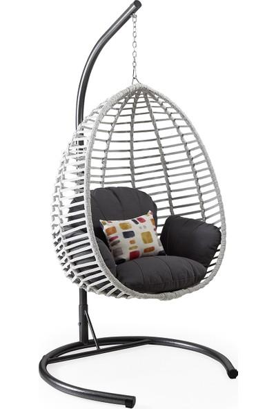 Capri Swing - Lara - Tek Kişilik Rattan Bahçe Balkon Salıncağı