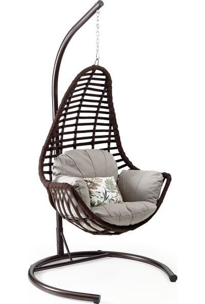 Capri Swing - Likya - Tek Kişilik Rattan Bahçe Balkon Salıncağı
