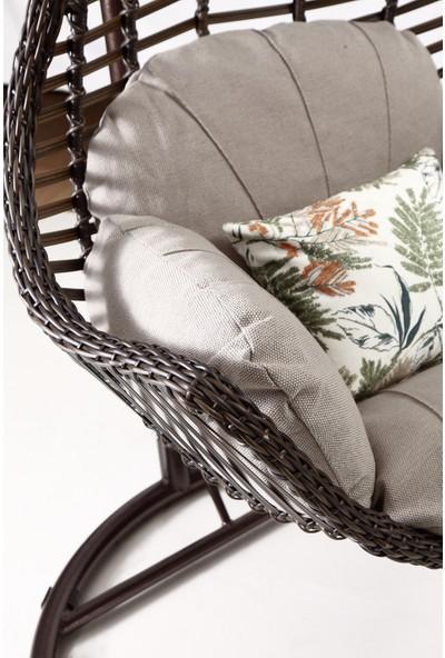 Capri Swing - Milas - Tek Kişilik Rattan Bahçe Balkon Salıncağı