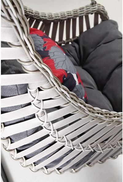 Capri Swing - Alaçatı - Tek Kişilik Rattan Bahçe Balkon Salıncağı