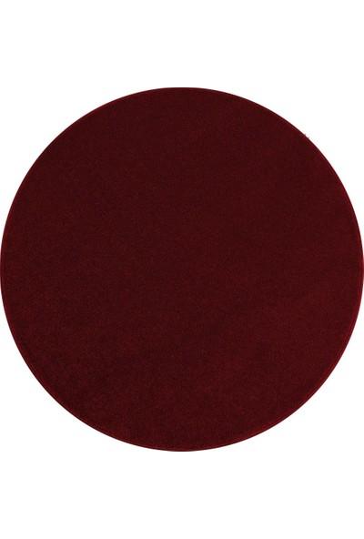 Ayyıldız Halı Modern Desenli Halı Kısa Havlı Bulanık Düz Renkli Bordo Kırmızı