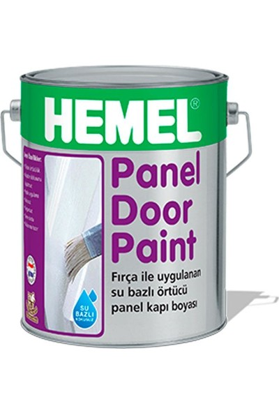 HEMEL Panel Kapı Boyası Su Bazlı 1 Lt Polar White