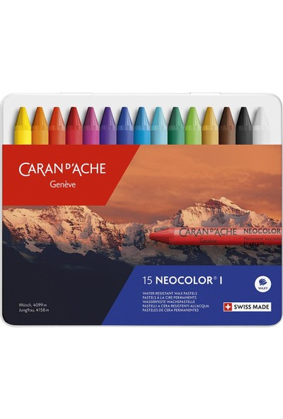 Caran d'Ache Neocolor I 15 Renk Wax Pastel Boya