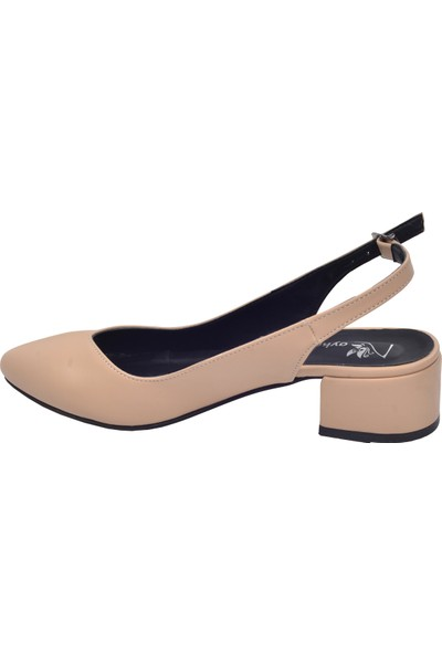 Ayakland 510-74 Cilt 3 Cm Kadın Orta Boy Topuk Ayakkabı Ten