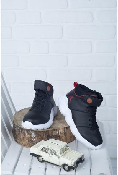 Kiko K-31 Günlük Spor Erkek Çocuk Basketbol Ayakkabısı Siyah