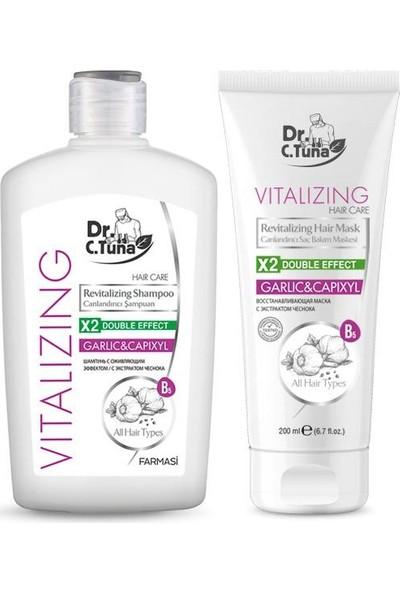 Farmasi Dr. C. Tuna Sarımsaklı Vitalizing Şampuan 500 ml + Bakım Kremi 200 ml