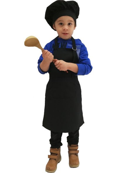 Mezuniyetshop Mutfak Önlüğü Şapkalı Çocuklar Için