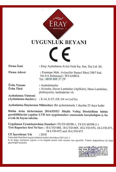 Eray Aydınlatma 1636-30 Krom Led Avize