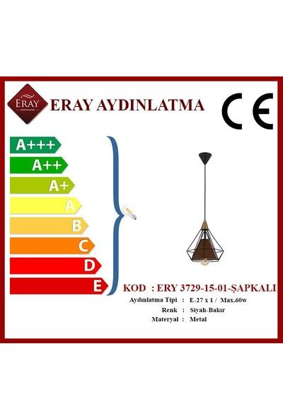 Eray Aydınlatma Ery 3729-15-01-ŞAPKALI Piramit Tekli Avize