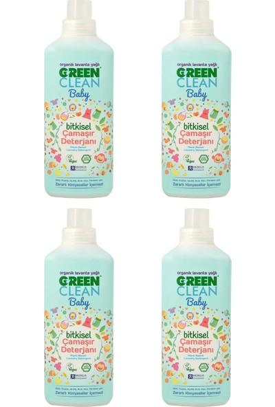 U Green Clean Baby 1 lt Bitkisel Sıvı Çamaşır Deterjanı - 4'lü