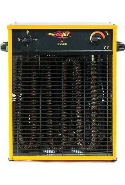 Isıjet EX22 Fanlı Elektrikli Isıtıcı 22KW-380V