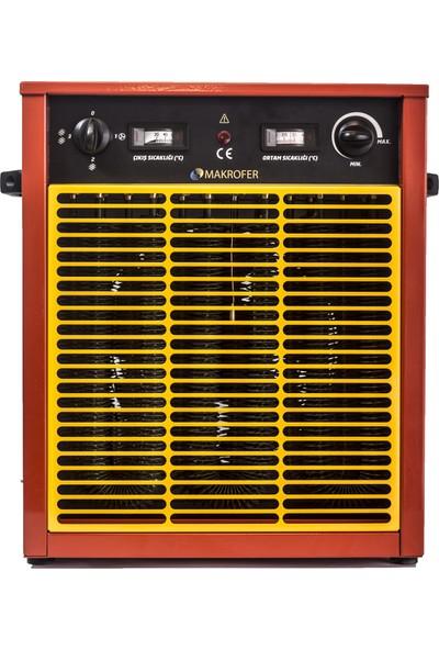 Makrofer MAKRO10 Fanlı Elektrikli Isıtıcı 10 Kw 380V