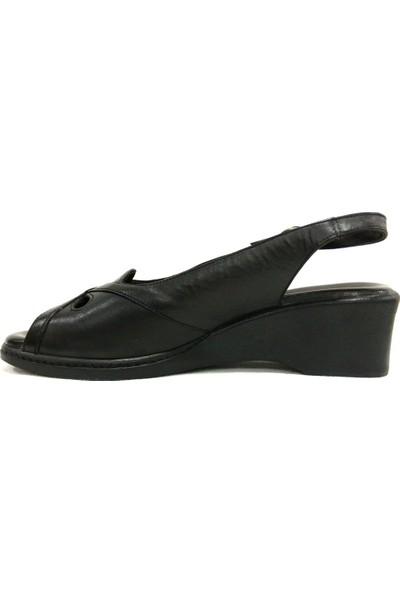 Bellati 3535 Siyah Comfort Kadın Sandalet