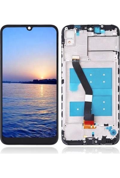 Ekranbaroni Huawei Y6 2019 LCD Ekran Dokunmatik Cam Çıtalı Çerçeveli