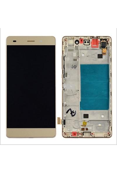 Ekranbaroni Huawei P8 Lite LCD Ekran Dokunmatik Cam Çıtalı Çerçeveli Siyah