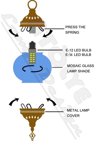 Atölye Lamp Design Mozaik Masa Üstü Lamba Abajur
