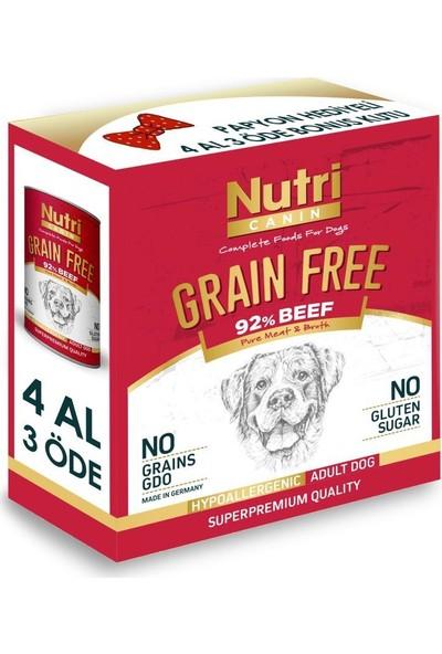 Nutri Canin %92 Biftekli Tahılsız Köpek Konservesi 4 x 400 gr