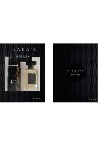 Tiaras Black Erkek Set Parfüm 50ML Edt + 150ML Deodorant