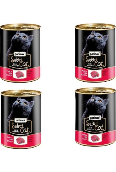 Patimax Parça Ton Balıklı Kedi Konserve 400 gr x 4 Adet