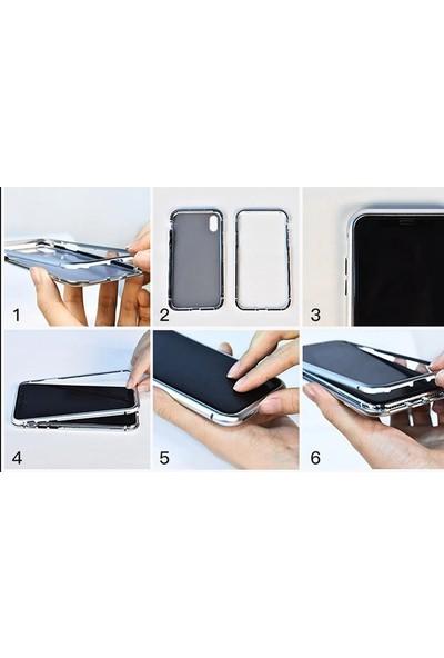 Gpack OnePlus 7 Pro Kılıf Magnetic Cam 2in1 Arka Cam Kırmızı