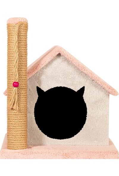 Petsi Friends Kedi Evi ve Tırmalama Gül Kurusu