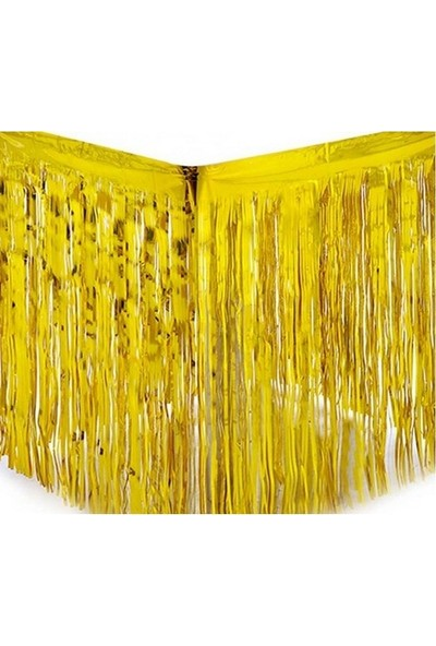 Datapos Metalize Gold Altın Püsküllü Masa Kenarı Eteği