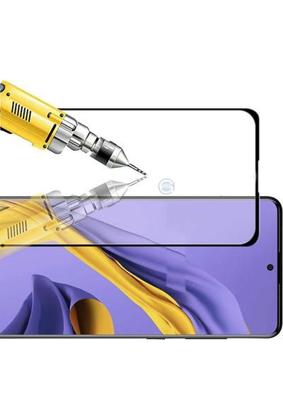 Happyshop Samsung Galaxy S10 Lite 5D Esnek Fiber Nano Cam Ekran Koruyucu Siyah
